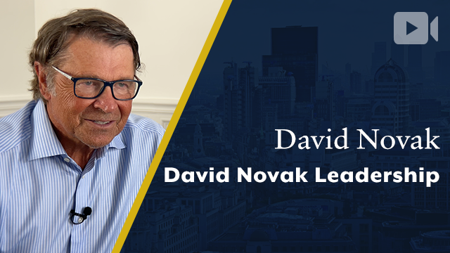 David Novak Leadership, David Novak, Founder & CEO