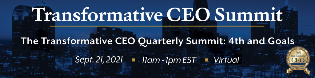The Transformative CEO Summit September 2021